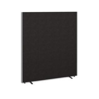 Nobis Office Furniture - Floor standing fabric screen 1800mm high x 1600mm wide - charcoal
