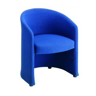 Nobis Office Furniture - Slender fabric reception single tub chair 620mm wide - blue