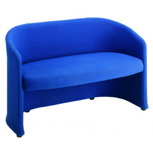 Nobis Office Furniture - Slender fabric reception double 2 seater chair 1225mm wide - blue