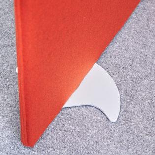 Nobis Office Furniture - Vibe designer floor standing screen feet (pair) - white