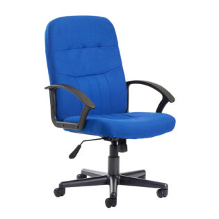 Nobis Office Furniture - Cavalier fabric managers chair - blue