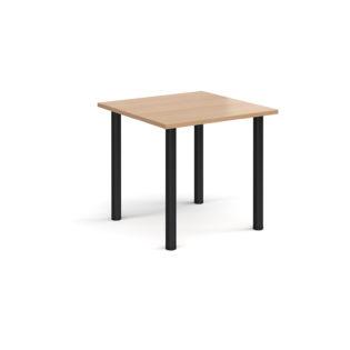 Nobis Office Furniture - Rectangular black radial leg meeting table 800mm x 800mm - beech