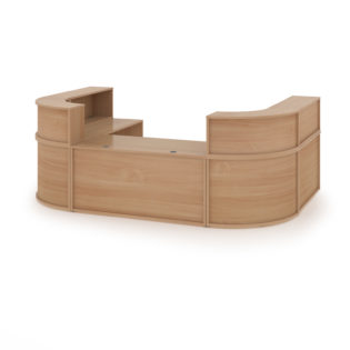 Nobis Office Furniture - Denver extra large U-shaped complete reception unit - beech