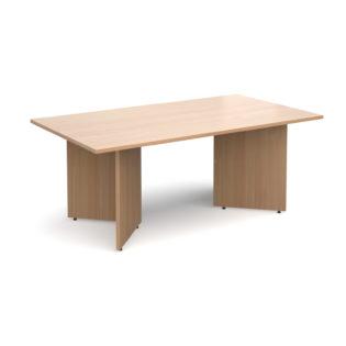 Nobis Office Furniture - Arrow head leg rectangular boardroom table 1800mm x 1000mm - beech