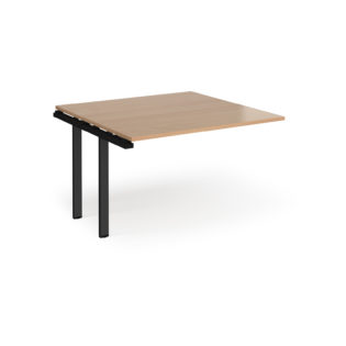 Nobis Office Furniture - Adapt boardroom table add on unit 1200mm x 1200mm - black frame