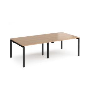 Nobis Office Furniture - Adapt rectangular boardroom table 2400mm x 1200mm - black frame