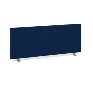 Nobis Office Furniture - Straight desktop fabric screen 1000mm x 400mm - blue