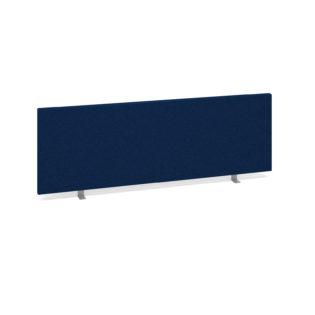 Nobis Office Furniture - Straight desktop fabric screen 1200mm x 400mm - blue