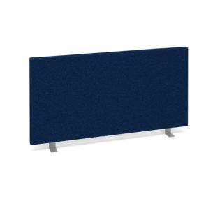 Nobis Office Furniture - Straight desktop fabric screen 800mm x 400mm - blue