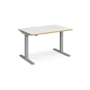 Nobis Office Furniture - Elev8 Mono straight sit-stand desk 1200mm x 800mm - silver frame