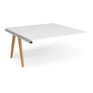 Nobis Office Furniture - Fuze boardroom table add on unit 1600mm x 1600mm - white frame