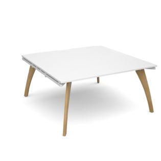 Nobis Office Furniture - Fuze boardroom table starter unit 1600mm x 1600mm - white frame