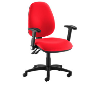 Nobis Office Furniture - Jota high back operator chair with folding arms - red
