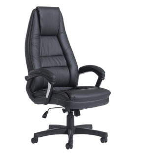 Nobis Office Furniture - Noble high back managers chair - black faux leather
