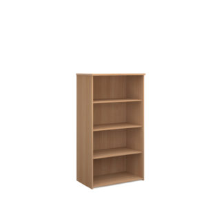 Nobis Office Furniture - Universal bookcase 1440mm high with 3 shelves - beech