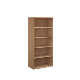 Nobis Office Furniture - Universal bookcase 1790mm high with 4 shelves - beech