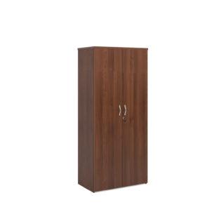 Nobis Office Furniture - Universal double door cupboard 1790mm high with 4 shelves - walnut
