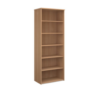 Nobis Office Furniture - Universal bookcase 2140mm high with 5 shelves - beech