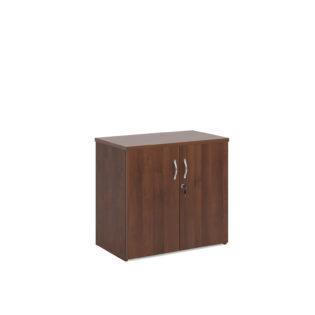 Nobis Office Furniture - Universal double door cupboard 740mm high with 1 shelf - walnut