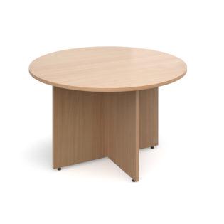 Nobis Office Furniture - Arrow head leg circular meeting table 1200mm - beech