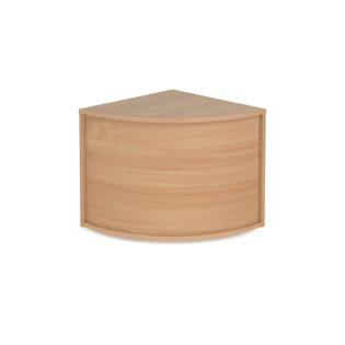 Nobis Office Furniture - Denver reception corner base unit 800mm x 800mm - beech