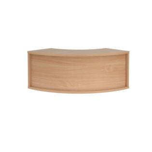 Nobis Office Furniture - Denver reception corner top unit 800mm x 350mm - beech