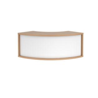 Nobis Office Furniture - Denver reception 90° corner top unit 800mm - beech with white panels