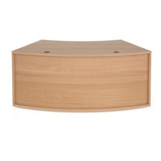 Nobis Office Furniture - Denver reception 45° curved base unit 1600mm - beech