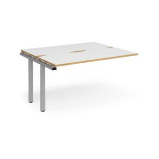 Nobis Office Furniture - Connect II Bench Desks sliding top add on unit single 1400mm x 1200mm - silver frame