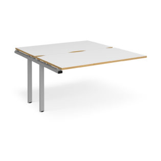 Nobis Office Furniture - Connect II Bench Desks sliding top add on unit single 1400mm x 1600mm - silver frame