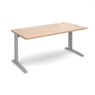Nobis Office Furniture - Lillo Cluster Desk straight desk 1600mm x 800mm - silver frame
