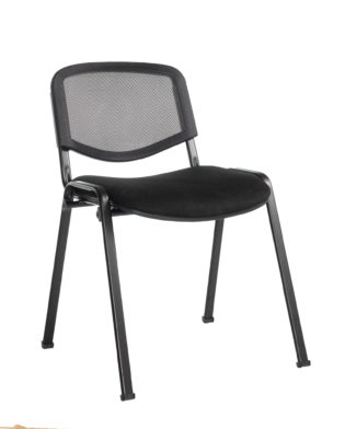 Nobis Office Furniture - Taurus mesh back meeting room stackable chair with no arms - black
