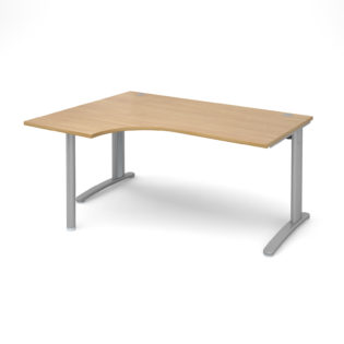 Nobis Office Furniture - Lillo Cluster Desk left hand ergonomic desk 1600mm - silver frame