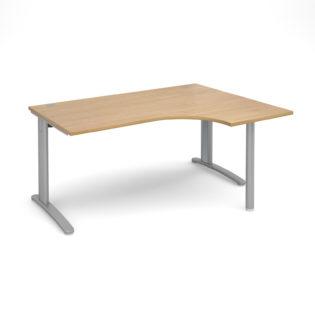 Nobis Office Furniture - Lillo Cluster Desk right hand ergonomic desk 1600mm - silver frame