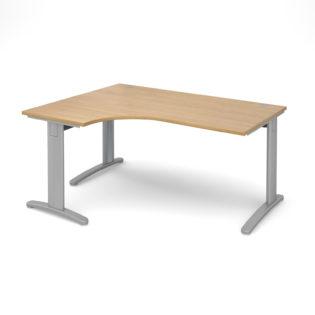 Nobis Office Furniture - Lillo Cluster Desk deluxe left hand ergonomic desk 1600mm - silver frame