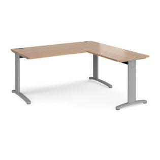 Nobis Office Furniture - Lillo Cluster Desk desk 1600mm x 800mm with 800mm return desk - silver frame