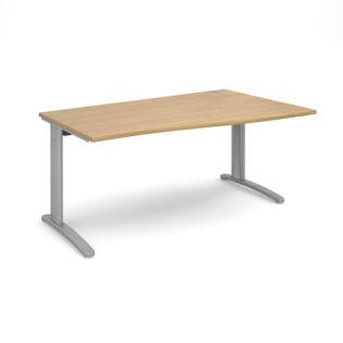 Nobis Office Furniture - Lillo Cluster Desk right hand wave desk 1600mm - silver frame
