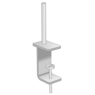 Nobis Office Furniture - Universal fabric screen brackets for desktops 15mm-36mm (pair)