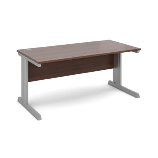Nobis Office Furniture - Bretton Cable Managed Desk straight desk 1600mm x 800mm - silver frame