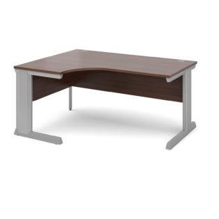 Nobis Office Furniture - Bretton Cable Managed Desk left hand ergonomic desk 1600mm - silver frame