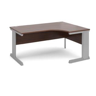Nobis Office Furniture - Bretton Cable Managed Desk right hand ergonomic desk 1600mm - silver frame