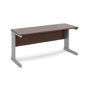 Nobis Office Furniture - Bretton Cable Managed Desk straight desk 1600mm x 600mm - silver frame