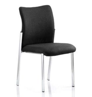 Academy Visitor Chair Black Fabric Back Without Arms | Nobis Office Furniture