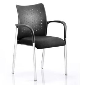 Academy Visitor Chair Black With Arms | Nobis Office Furniture