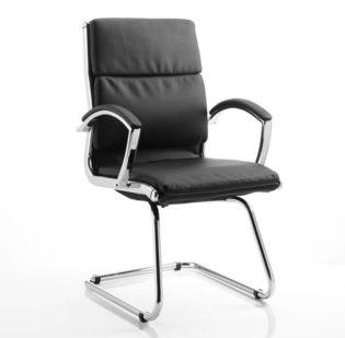Classic Cantilever Chair Black With Arms | Nobis Office Furniture