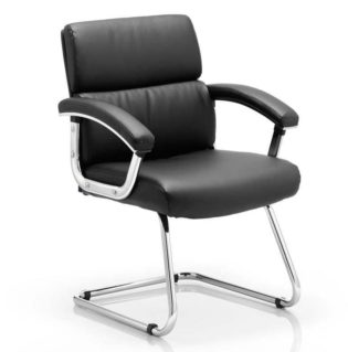 Desire Cantilever Chair Black With Arms | Nobis Office Furniture