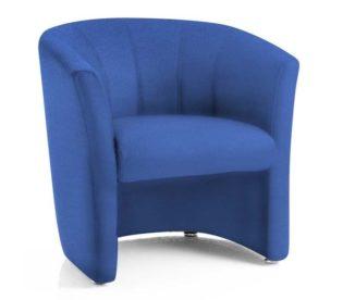Neo Single Tub Blue Fabric   Nobis Office Furniture