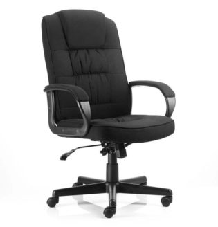 Moore Executive Chair Black Fabric With Arms | Nobis Office Furniture