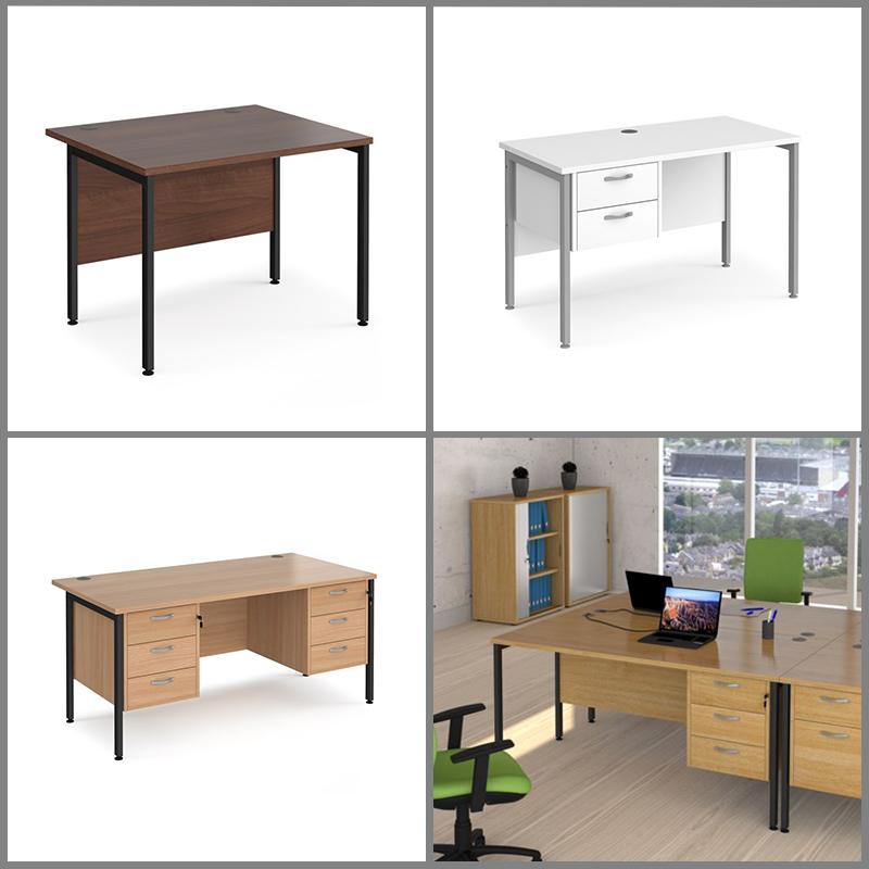 H Frame Office Desks
