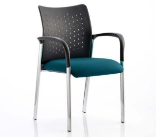 Academy Bespoke Colour Seat With Arms Maringa Teal | Nobis Office Furniture
